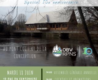 AGA de l'OBV RPNS et activités spéciales du 10e anniversaire