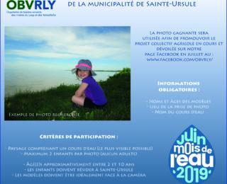 Concours photo d'enfants de la Municipalité de Sainte-Ursule