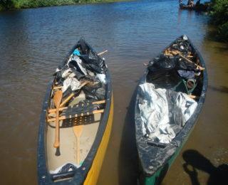 Corvée de nettoyage sur la rivière Etchemin