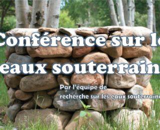Conférence sur les eaux souterraines