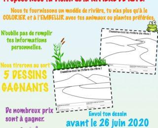 Concours de dessin pour les 6 à 10 ans : Dessine-moi ta rivière de rêve !