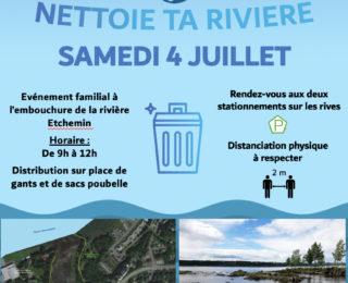 3e corvée de nettoyage de la rivière Etchemin